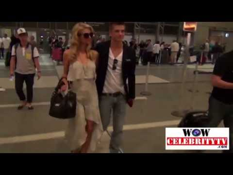 Paris Hilton catches a flight at LAX headed to Cannes