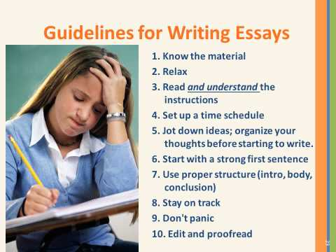 taking essay tests Essay tests can have on them the following types of questions: short or long answers, fill in the blank, and sentence completion use the following suggestions to.