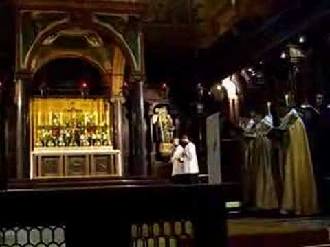 Easter Vespers at a Benedictine Monastery