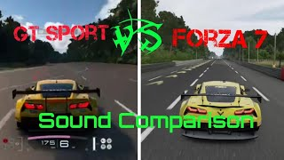 Forza Motorsport 7 vs GT Sport Sound Comparison (Corvette C7)