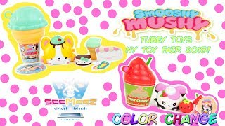 Color Change Smooshy Mushy Scented Squishies, SeeMeez Virtual Friends NY Toy Fair Tubey Toys