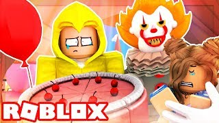 """IT"" HUNTS US DOWN IN A SEWER! (Roblox Adventures)"