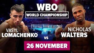 Бокс: Василий Ломаченко - Николас Уолтерс | Обзор и прогноз от FavBetTV Lomachenko Walters