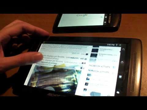 Thumb Android 2.2 Froyo on Archos Gen8 Tablet (Flash Test)