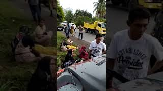 Kecelakaan mau Bus sekolah Bantuan Bank Aceh  milik Pemda Aceh Tamiang