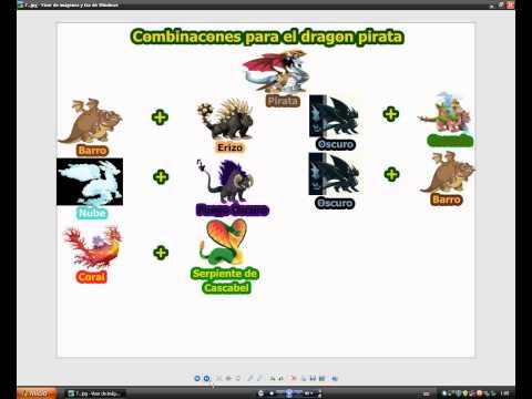 Combinaciones Dragon City:Chicle.Futbolista.Fuego Fresquito.Armadillo. Petroleo.Pirata y caca.