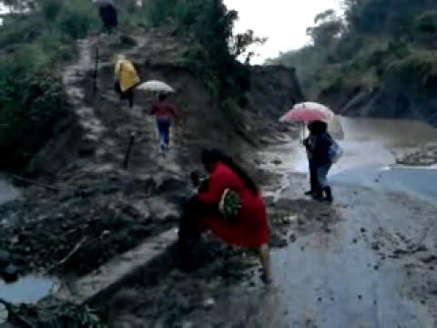 El cerro que se cayó en zapata, Tecpatán, Chiapas.