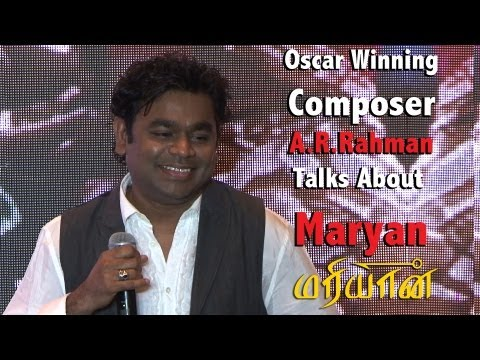 Oscar winning Music composer A.R.Rahman talks about Mariyaan ( மரியான�)[RED PIX].