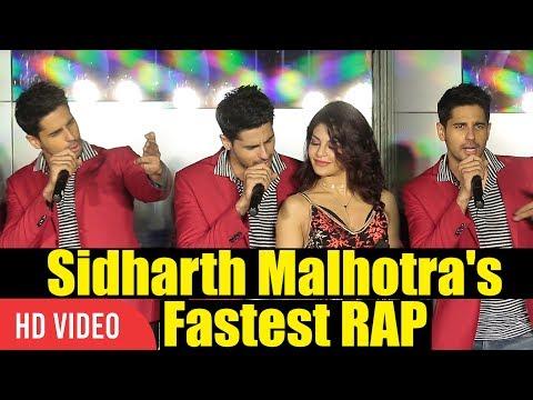 Sidharth Malhotra's Fastest RAP   Bandook Meri Laila Song   A Gentleman