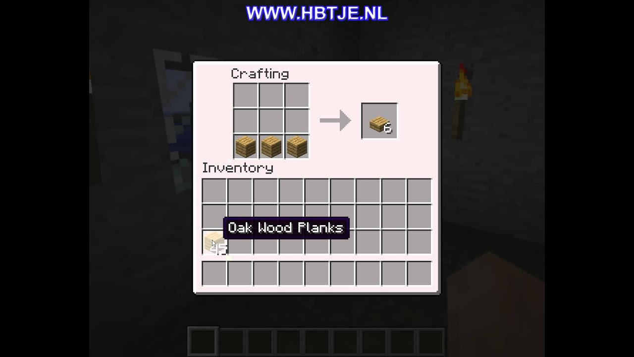 How to create a oak wood slab in minecraft youtube for Watch create and craft tv online