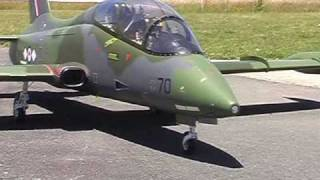 Turbine powered RC Aermacchi model airplane