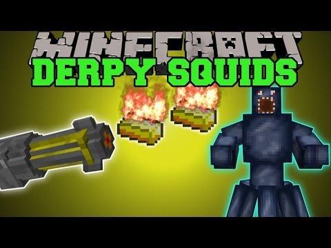 Minecraft: DERPY SQUID MOD (CAN YOU SURVIVE THE SQUID DIMENSION?) Mod Showcase