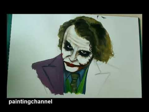 how to draw heath ledger joker