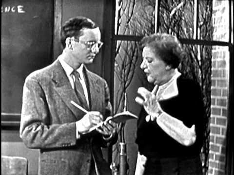 "Excerpt from the UCLA Film & Television Archive's digital restoration of ""Mister Peepers"" starring Wally Cox and featuring Marion Lorne as Mrs. Gurney. Air d..."