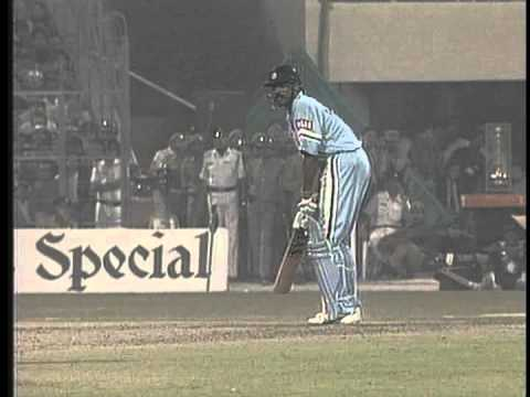 Sachin Tendulkar, Kapil Dev, Anil Kumble, 4,4,4,4, Wicket, 4, Wicket, 4 vs West Indies 1993