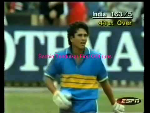 Sachin Tendulkar First Odi Runs Against Newzealand video