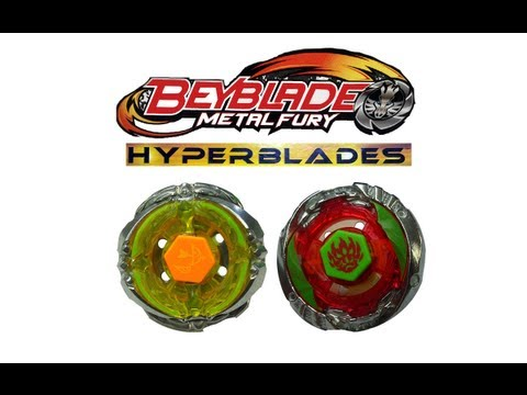 Beyblades Metal Fury Hyperblades Battle Series Battle 3 - Flash Sagittario X Phantom Orion