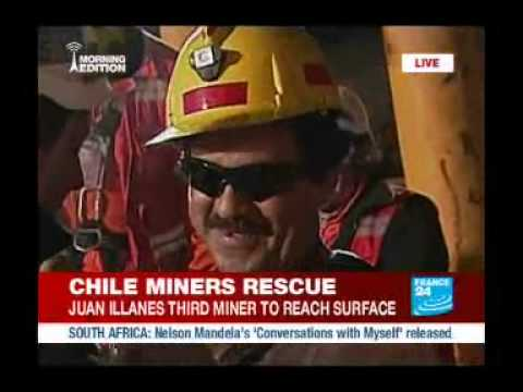 3rd Miner Out:  Chile mine rescue