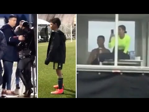 Cristiano Ronaldo with fiancée support CR7 Jr during game thumbnail