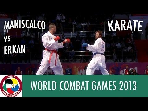 Karate Men's Kumite +84kg. MANISCALCO vs ERKAN. World Combat Games 2013