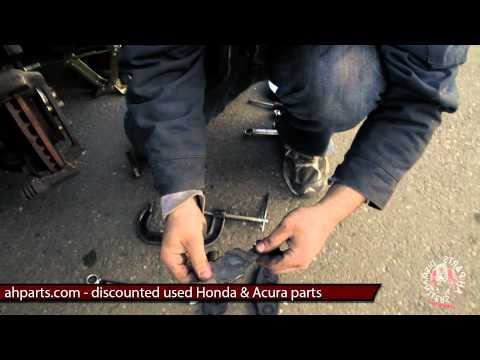 How to change install replace brake pads DIY 94 95 96 97 Honda Accord Replacement change