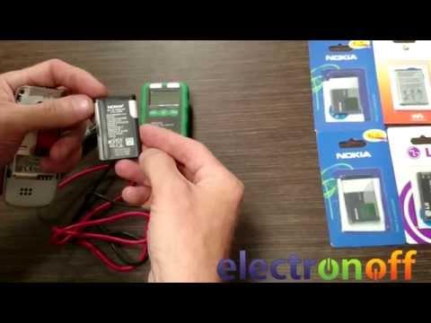 Видео как проверить емкость аккумулятора телефона мультиметром