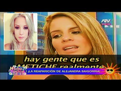 HOLA A TODOS 15/03/16 ALEJANDRA BAIGORRIA REAPARECE Y ¿LLAMA 'METICHE' A LESLIE SHAW?