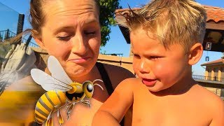 TODDLER'S FIRST BEE STING! 🐝