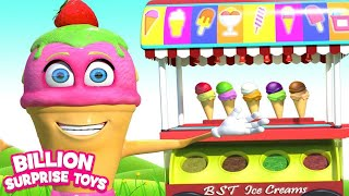 Ice cream Song | Types of Ice Cream - Playing in Park Songs for Kids