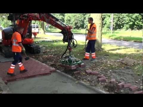 Dubbelklinkers leggen met vacuum