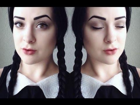Halloween: Wednesday Addams Makeup Tutorial - YouTube