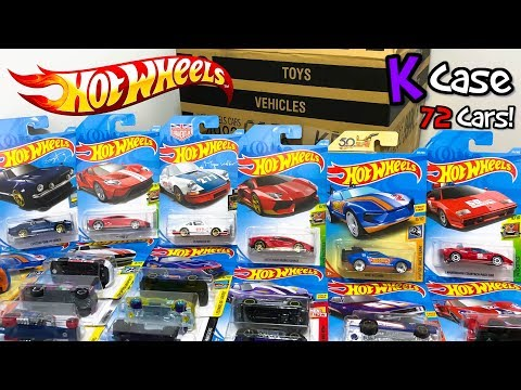 Unboxing Hot Wheels 2018 K Case 72 Car Assortment!