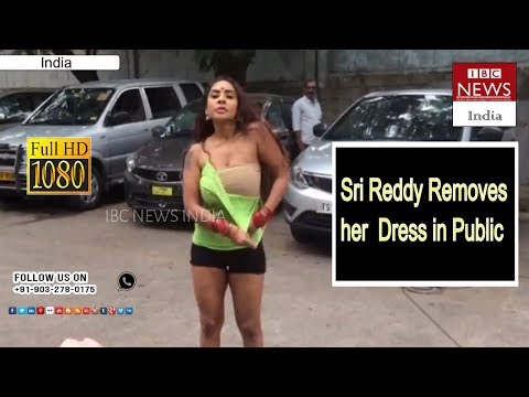 Actress Sri Reddy Nude Agitation At Film Chamber // IBC NEWS INDIA