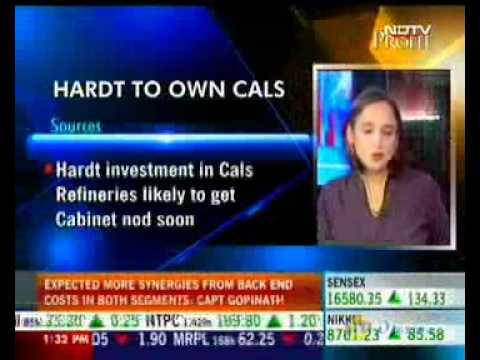 StockExplain - NDTV Profit - Interview with Hardt CEO - Cals Refineries.wmv
