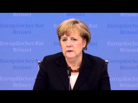 Angela Merkel, German Chancellor - Press Conference, EU Summit, Dec. 2010