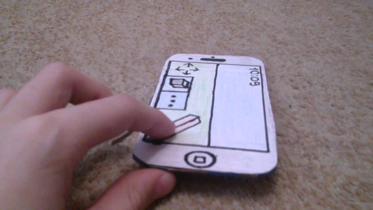 Фото как сделать телефон из бумаги своими руками