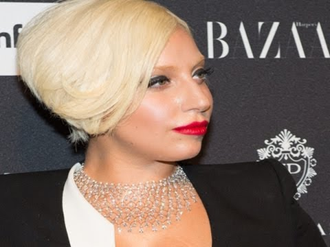 Lady Gaga Attends Harper's Bazaar Party