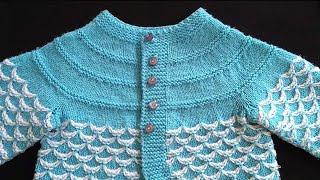 Knitting Pattern For Baby Cardigan / Sweater / Cap / Blanket