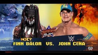 WWE  Finn Balor vs John Cena  HIGHLIGHTS  SUMMERSLAM WWE 2K16