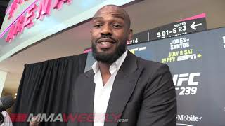 Jon Jones: 90% Chance He Fights Daniel Cormier at Heavyweight  (UFC 239 Media Day)