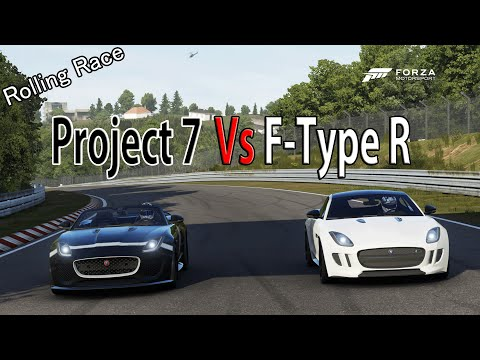 Forza Motorsport 6 - DRAG RACE: Jaguar F-Type Project 7 Vs Jaguar F-Type R TOP GEAR CAR PACK