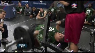 Stephen Paea Breaks Bench Press Record with 49 Reps! | 2011 NFL Combine