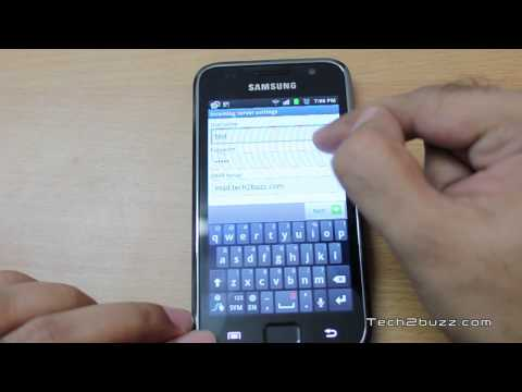 How to setup push email on Android phone for any email address