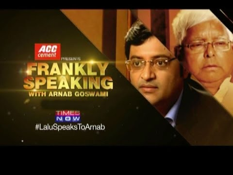 Frankly Speaking with Lalu Prasad - Full Interview
