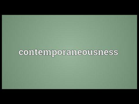 Header of contemporaneousness