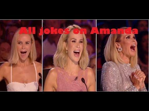 Britain's got talent: ALL jokes on AMANDA Holden|| all pranks on amanda holden