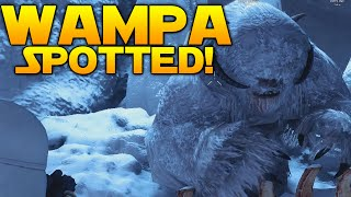 Star Wars Battlefront Easter Egg: ALIVE WAMPA SPOTTED IN A CAVE!