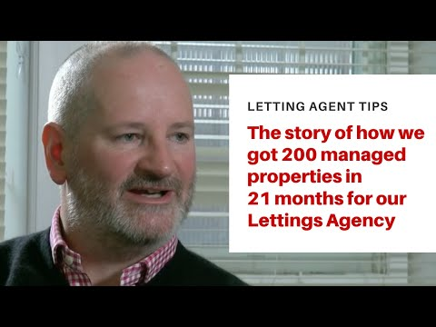 """Letting Agent Story -  """"How I increased my lettings book by nearly 200 properties in 20 months"""""""