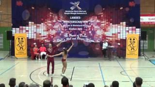 Nina Stahl & Michael Federl - Landesmeisterschaft Hessen, Rlp, Saarland 2016