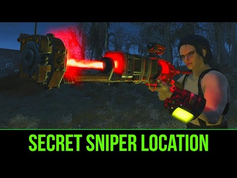 FALLOUT 4: Secret Sniper Guide ALREADY FULLY UPGRADED Best Sniper (Energy) with Location